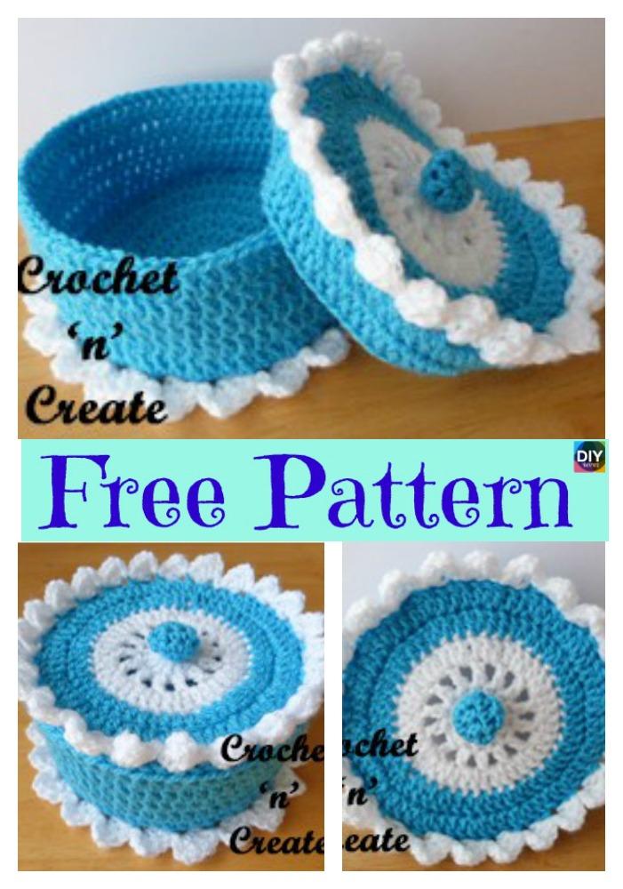 diy4ever- 5 Pretty Crochet Trinket Box - Free Patterns
