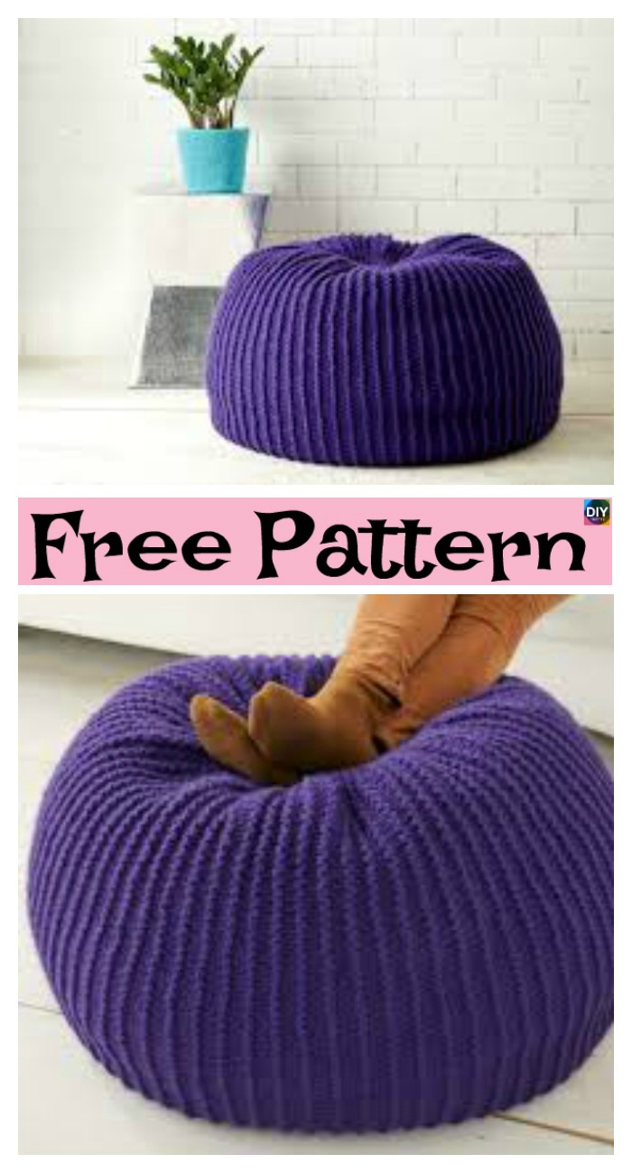 diy4ever-6 Beautiful Knitting Pouf Free Patterns