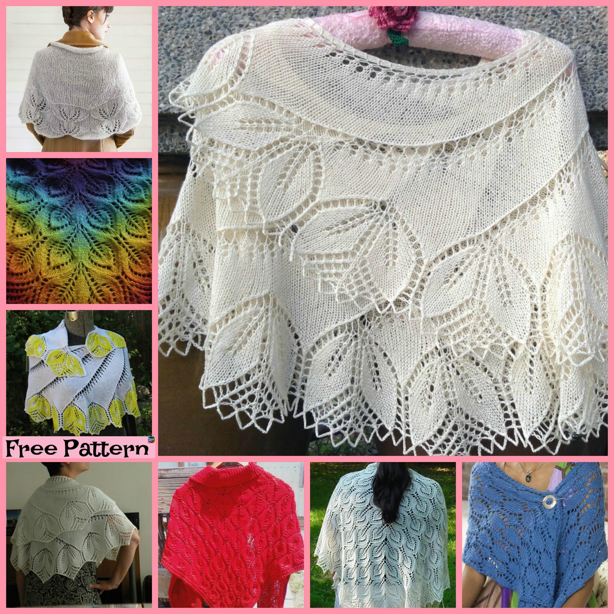 diy4ever-8 Pretty Knitting Lace Shawl Free Patterns