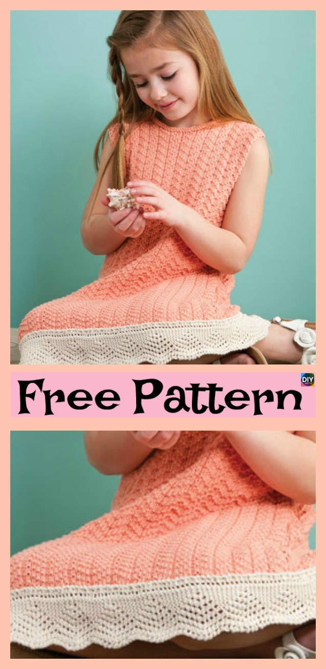 diy4ever- 8 Stylish Knitted Dress - Free Patterns