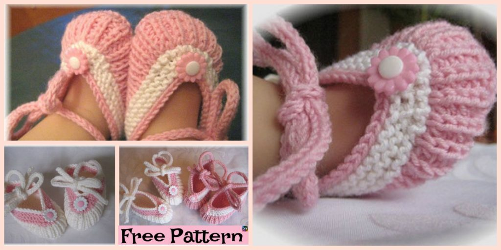 Adorable Knitted Baby Ballerina Booties Free Patterns Diy 4 Ever