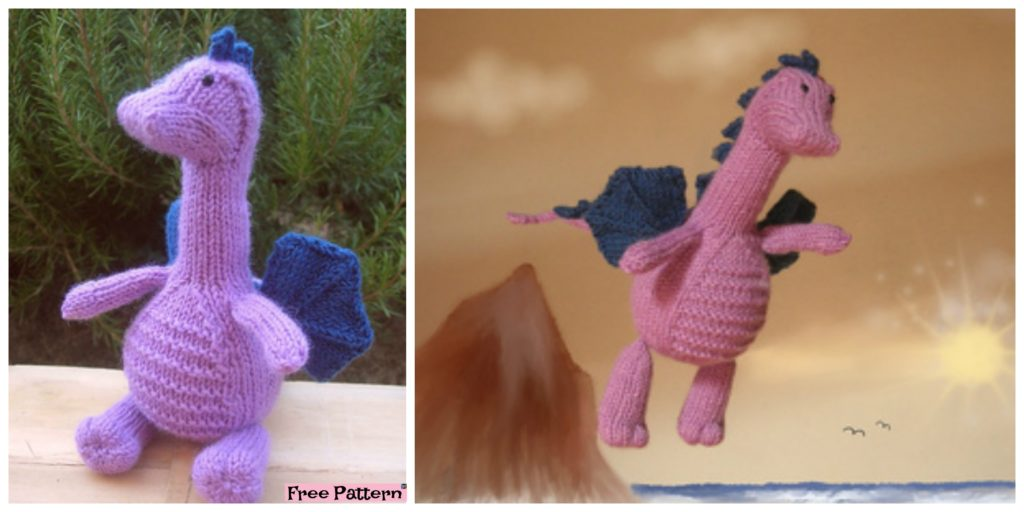 Adrorable Knit Gentle Dragon Free Pattern Diy 4 Ever
