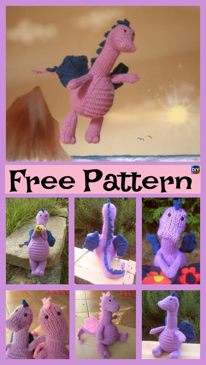 diy4ever-Adrorable Knit Gentle Dragon - Free Pattern