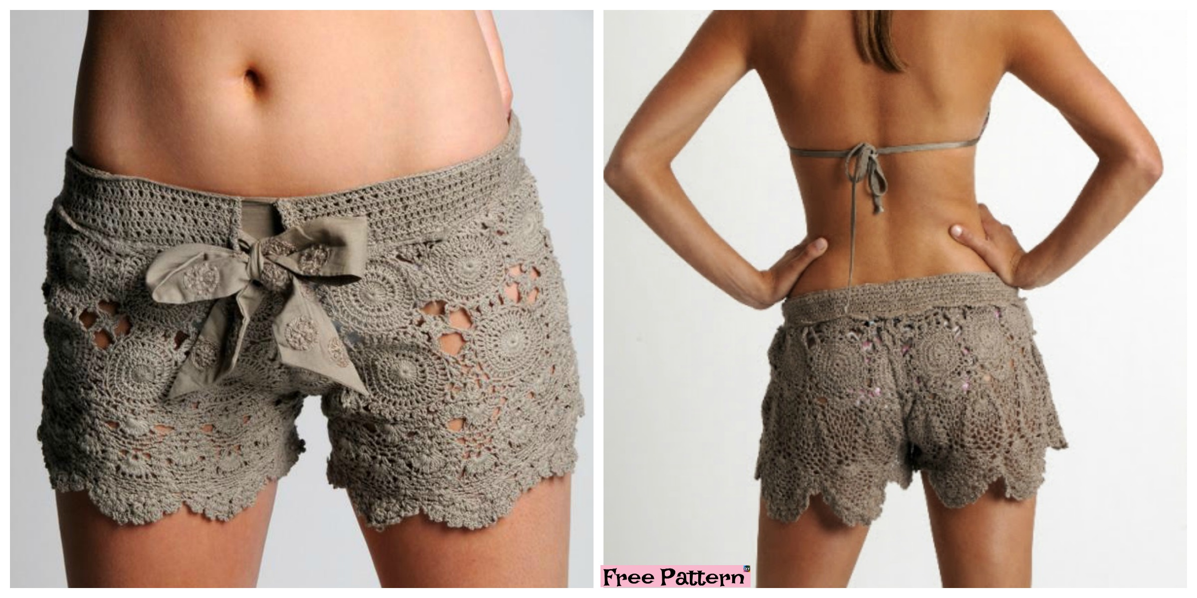diy4ever- Amazing Crochet Lace Shorts - Free Pattern