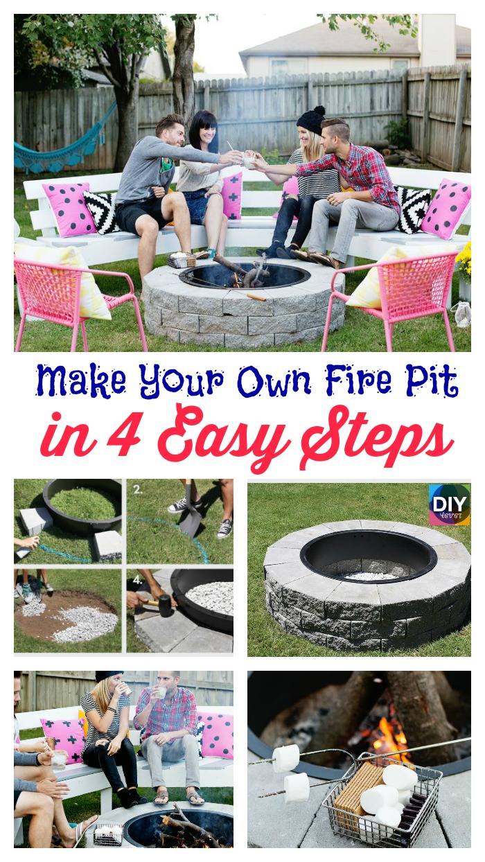 Build fire pit tutorial step by step for Step by step fire pit