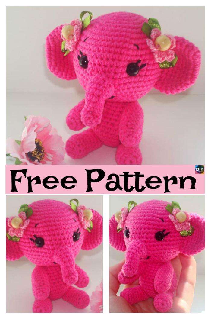 Elephant Amigurumi - Free Crochet Pattern • Craft Passion | 1056x700