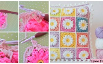 diy4ever- Crochet Daisy Granny Square - Free Pattern