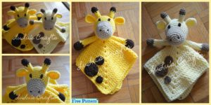 diy4ever-Crochet Giraffe Lovey - Free Pattern