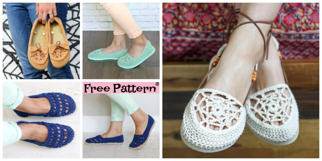 195861a2b Crochet Slippers Using Flip Flop Soles - Free Patterns - DIY 4 EVER