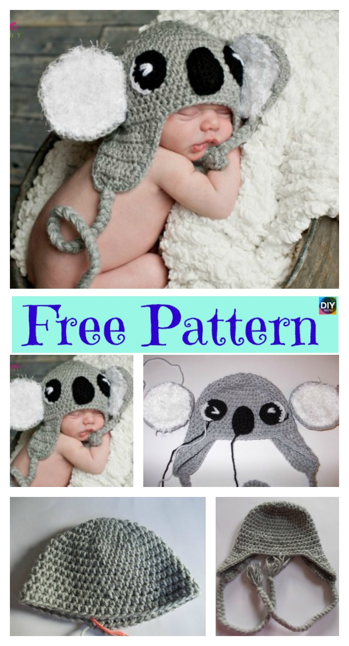 diy4ever- Cuddly Crochet Koala hat – Free Pattern