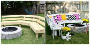 diy4ever- Curved DIY Fire Pit Bench - Step by Step Tutorial