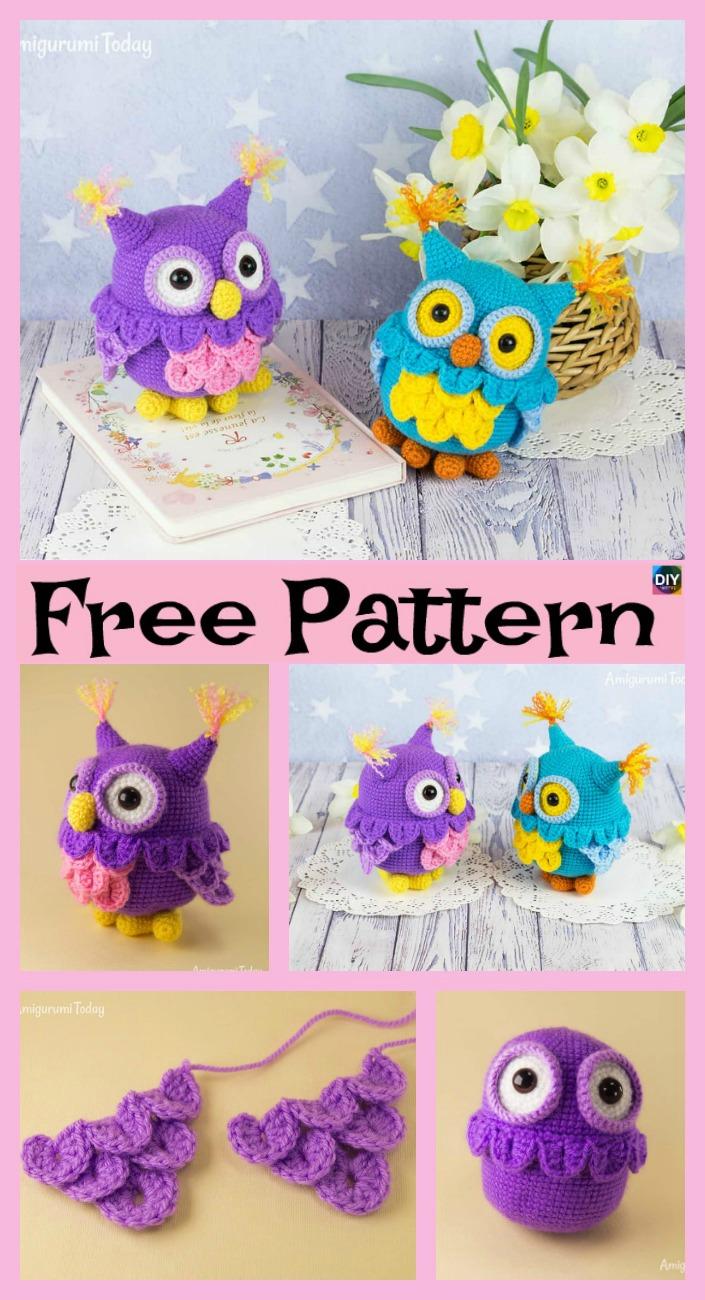 diy4ever-Cute Crochet Owl Amigurumi - Free Pattern