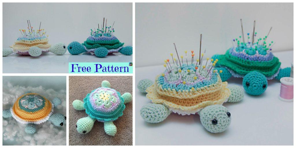 Cute Crochet Turtle Pincushion Free Pattern Diy 4 Ever