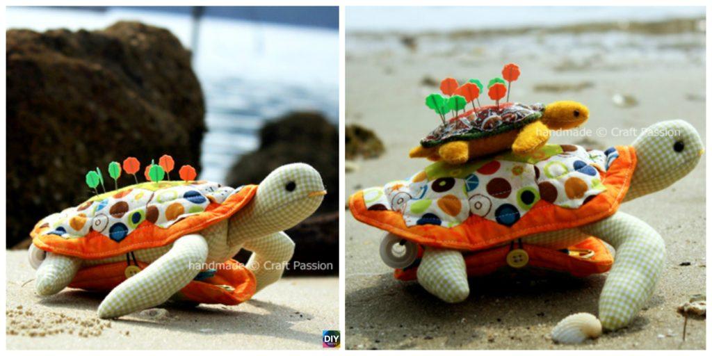 Cute DIY Turtle Pincushion - Free Sewing Pattern - DIY 4 EVER