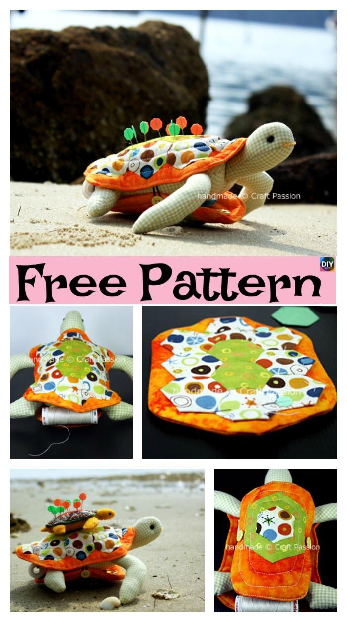 diy4ever- Cute DIY Turtle Pincushion - Free Sewing Pattern