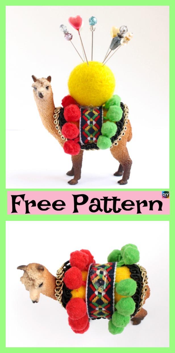 diy4ever- Cute DIY animal Pincushion - Free Sewing Pattern