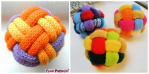 diy4ever- Decorative Knitted Braided Ball - Free Pattern