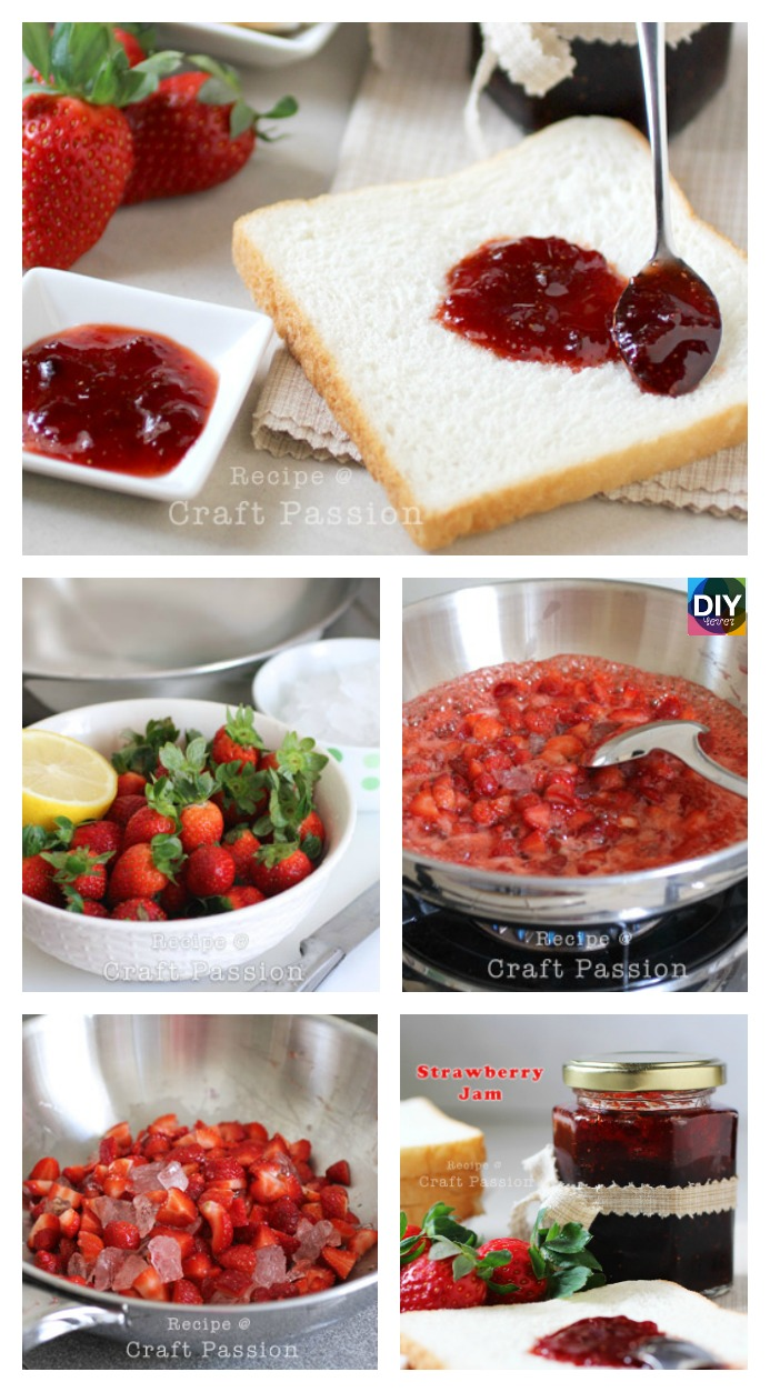 diy4ever- Delicious Homemade Strawberry Jam Recipe