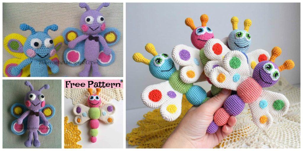 Easy Crochet Amigurumi Butterfly Free Patterns Diy 4 Ever