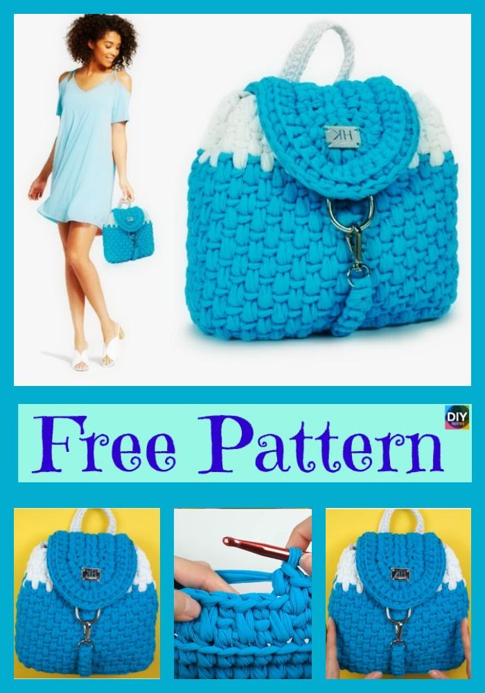 diy4ever- Elegant Crochet Nora Backpack - Free Pattern