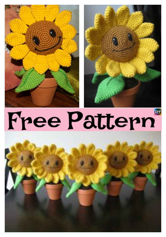 Sunflower Sam - flower doll crochet pattern | Zabbez amigurumi ... | 1000x700