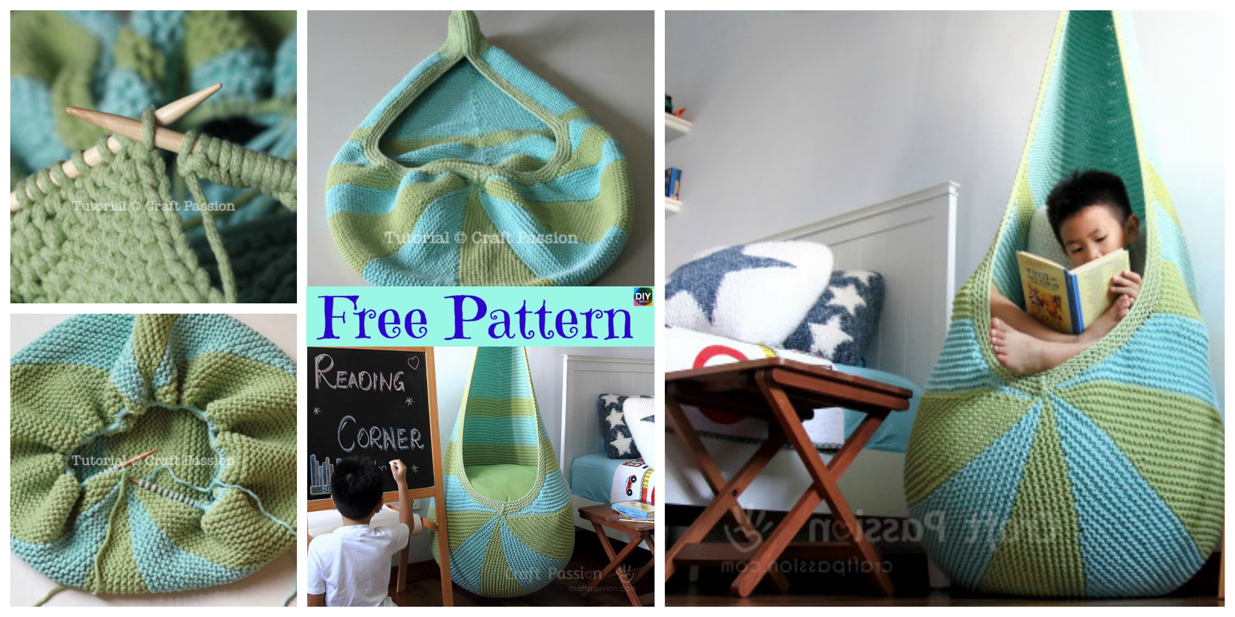 diy4ever- Knit Cocoon Hanging Seat - Free Pattern