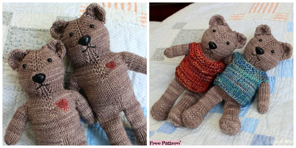 One Piece Knitted Teddy Bear Free Pattern Diy 4 Ever