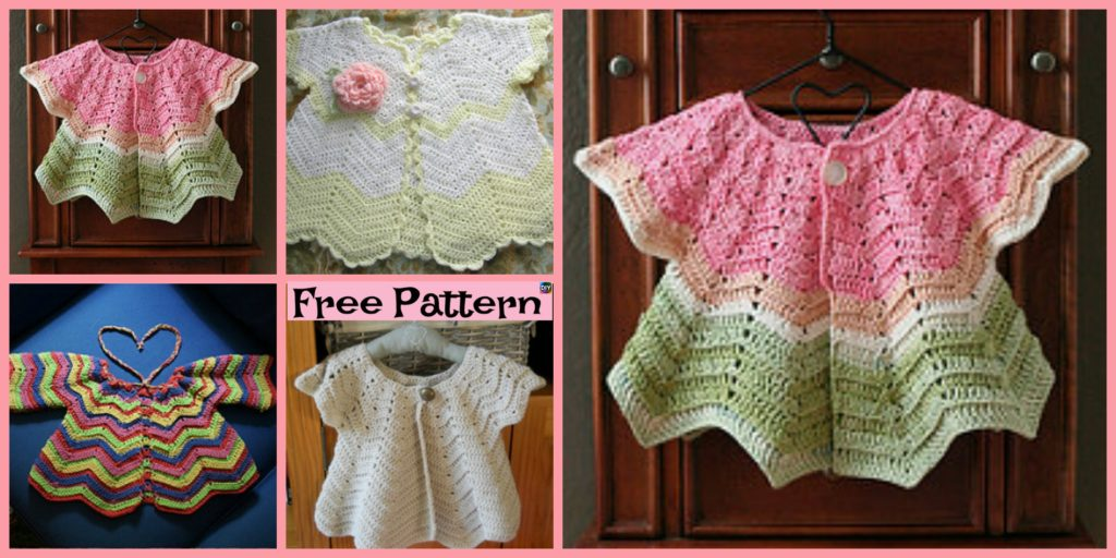 Pretty Crochet Baby Sweater Free Pattern Diy 4 Ever