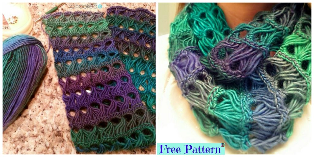 Pretty Crochet Broomstick Lace Scarf Free Pattern Diy 4 Ever