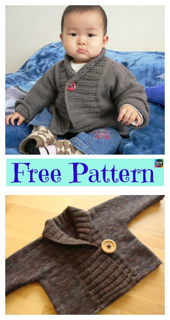 72acc6fb5cd Pretty Knit Baby Cardigan - Free Patterns - DIY 4 EVER