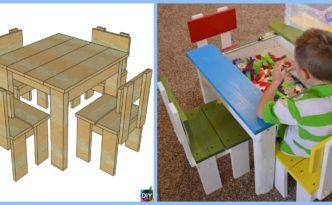 diy4ever- Simple DIY Kids Table Chair Set Tutorial