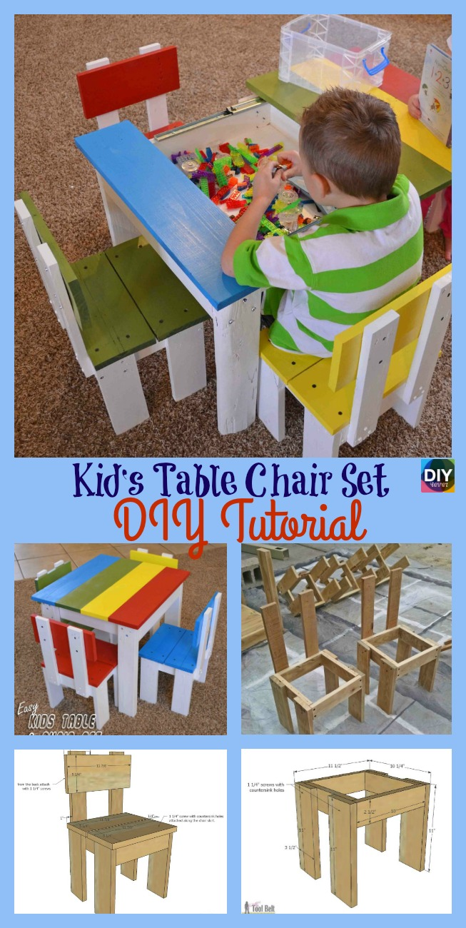 Cool Simple Diy Kids Table Chair Set Tutorial Diy 4 Ever Caraccident5 Cool Chair Designs And Ideas Caraccident5Info