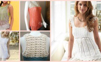 diy4ever-10 Beautiful Crochet Summer Tank Free Patterns