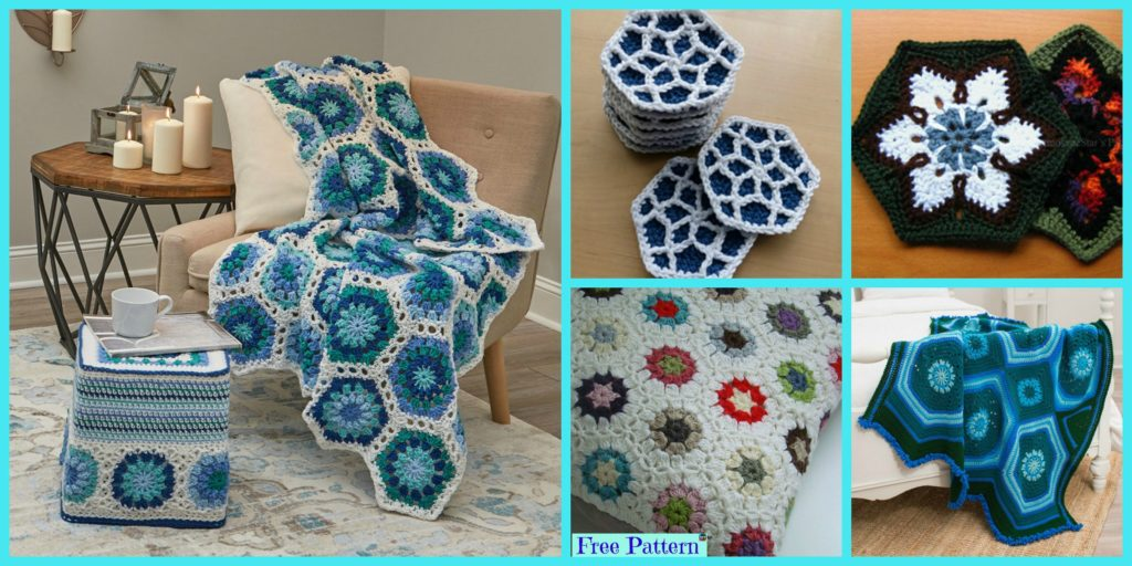 10 Beautiful Crochet Hexagon Free Patterns Diy 4 Ever