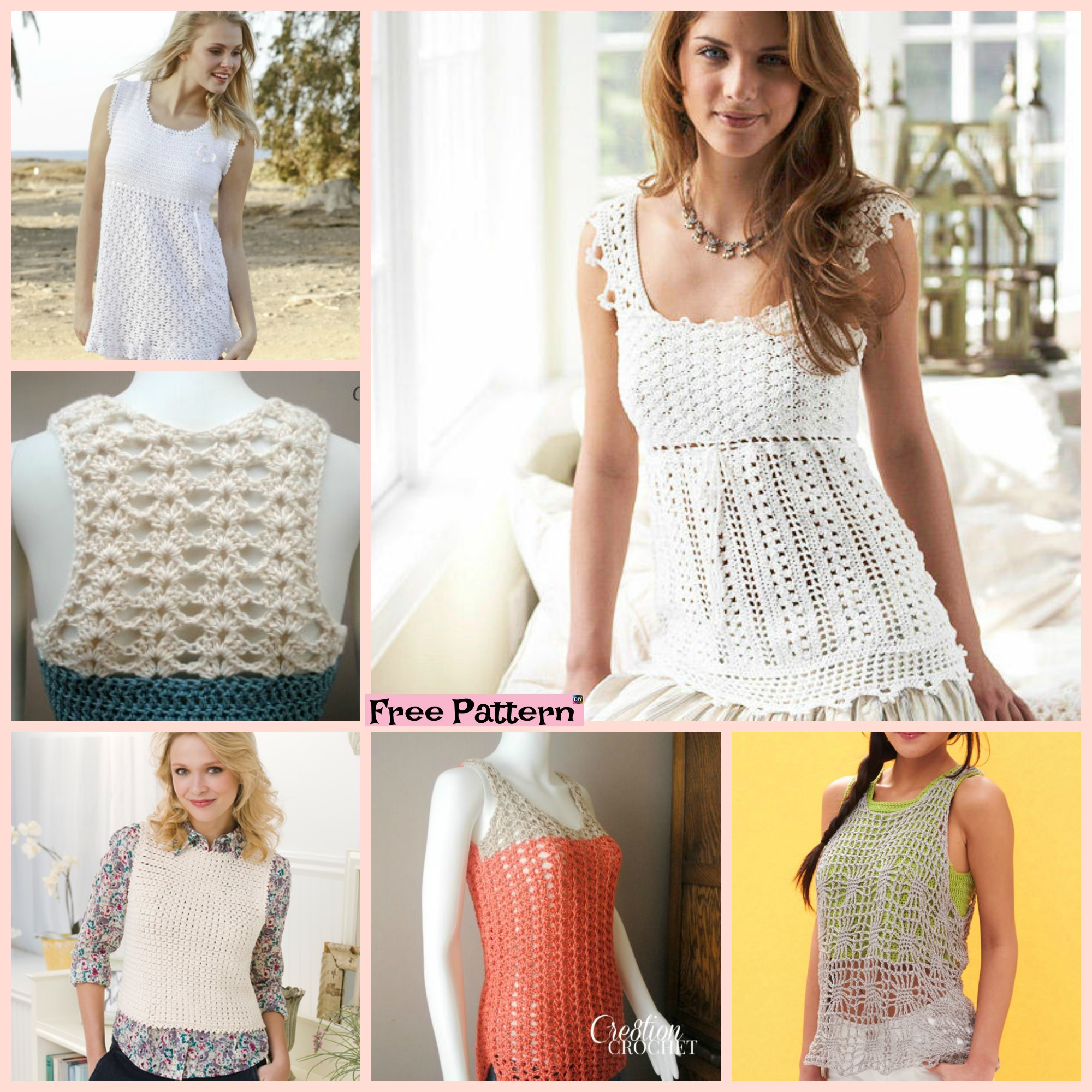 diy4ever-10 Beautiful Crochet Summer Tank Free Patterns