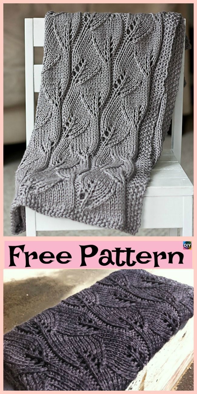 diy4ever- 10 Easiest Knit Baby Blanket Free Patterns