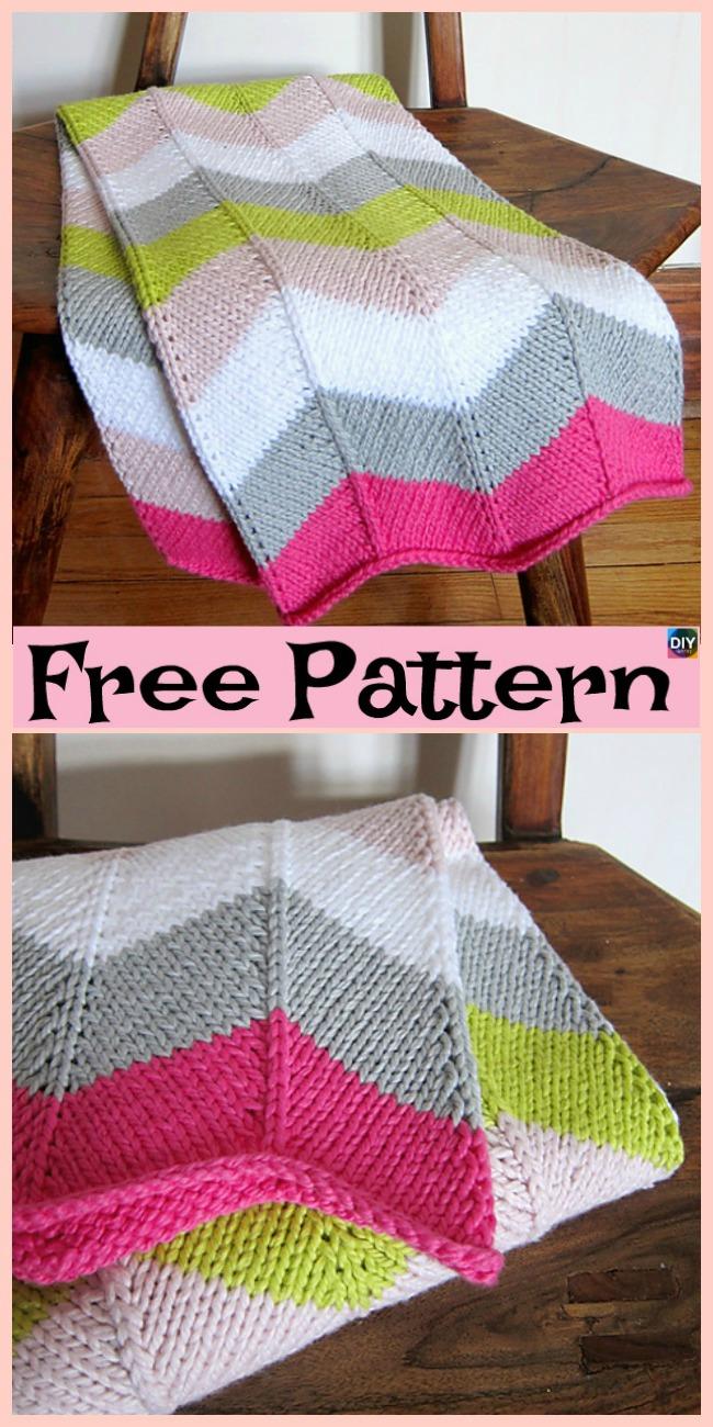 diy4ever- 10 Easiest Knit Baby Blanket Free Patterns