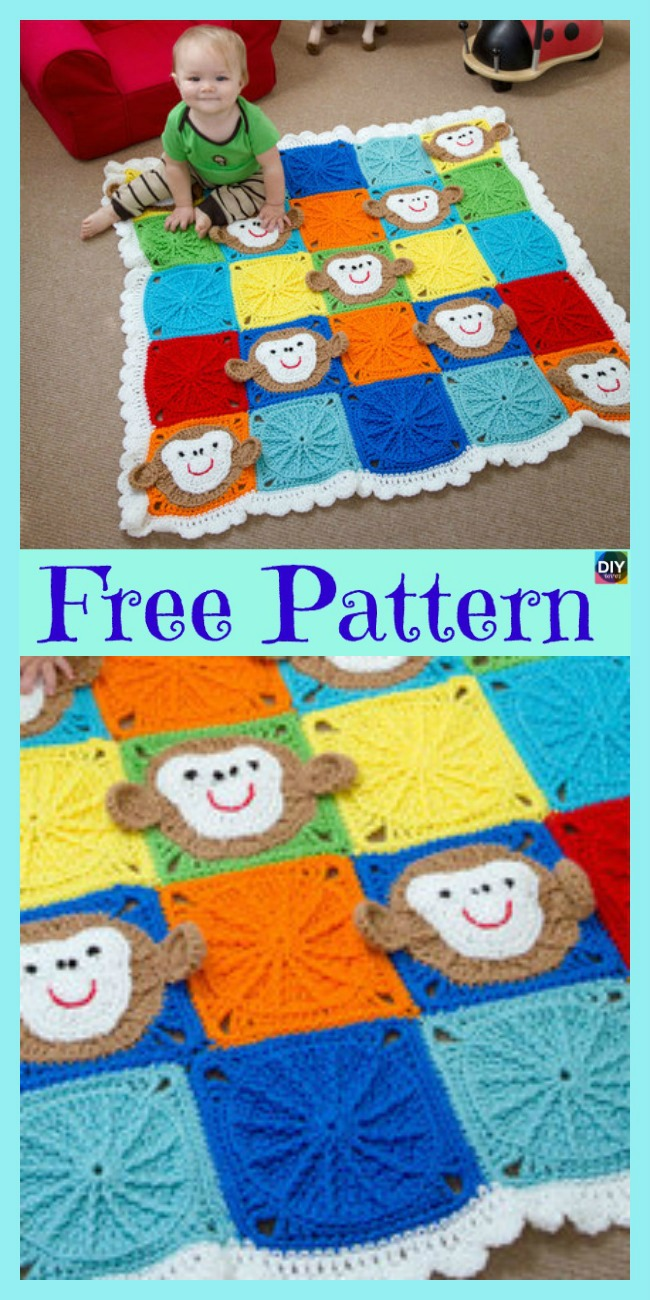 diy4ever-10 Most Adorable Crochet Kids Blanket - Free Patterns
