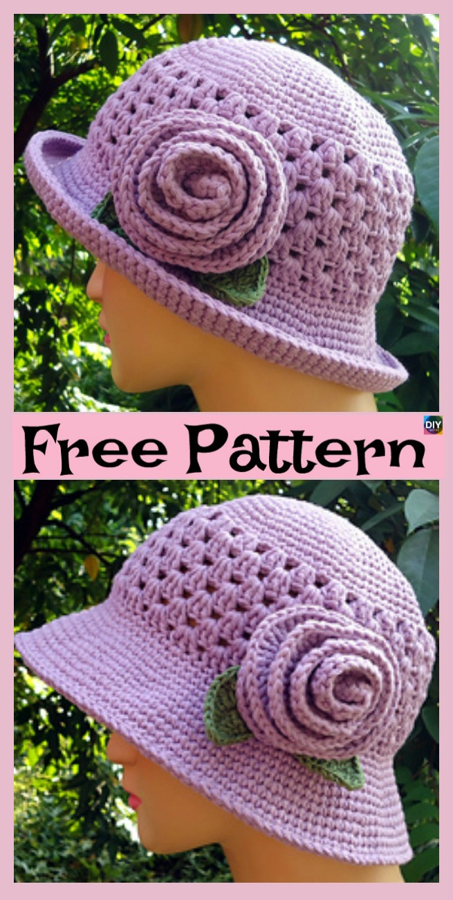 diy4ever-10 Most Beautiful Crochet Sun Hat Free Patterns