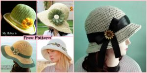 diy4ever 15 Amazing Crocheted Sun Hat Free Patterns F2 300x150 - 8 Cutest Crochet Pumpkin Hat Free Patterns
