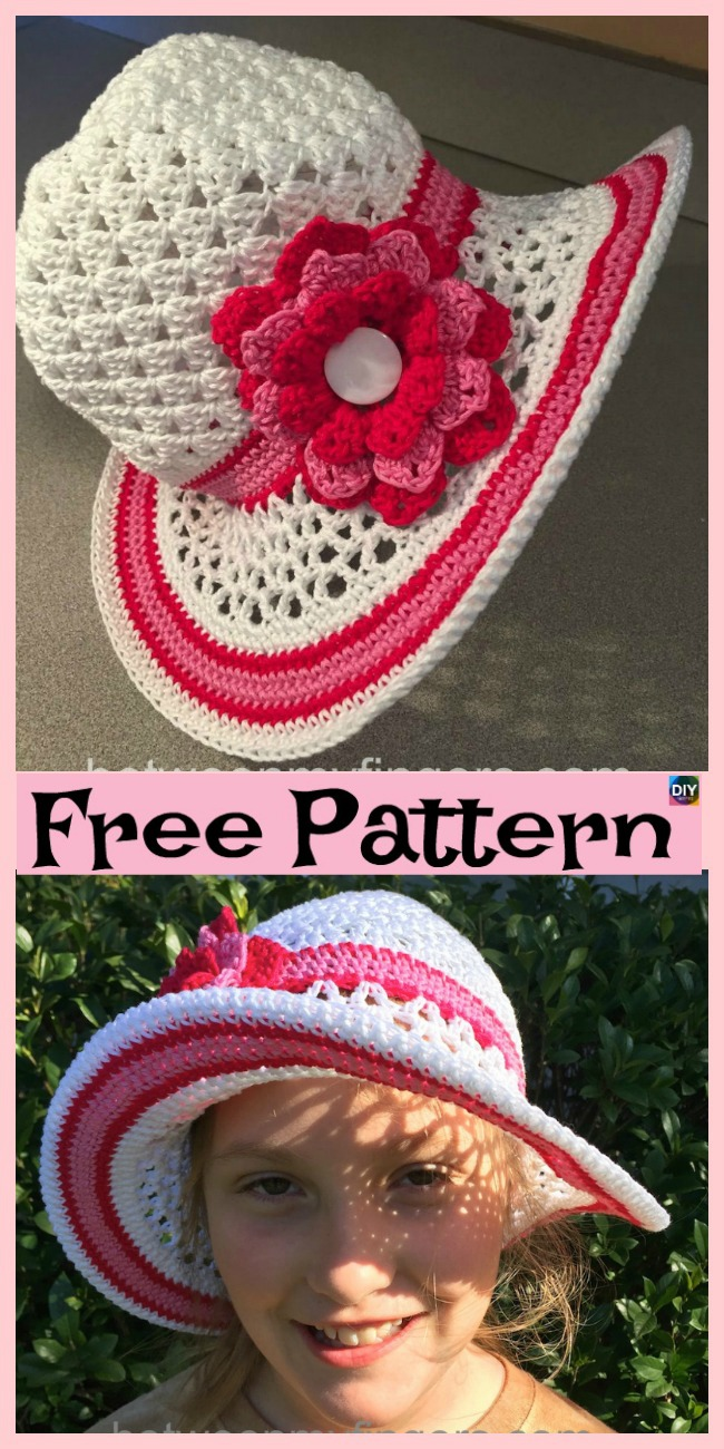 diy4ever-15 Amazing Crocheted Sun Hat Free Patterns