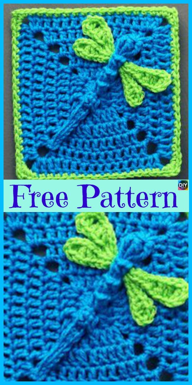 diy4ever- 6 Beautiful Crochet Dragonfly Free Patterns