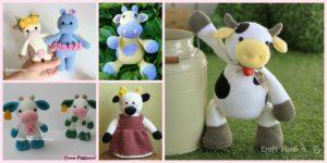 diy4ever-6 Super Cute Crocheted Amigurumi Cow Free Patterns