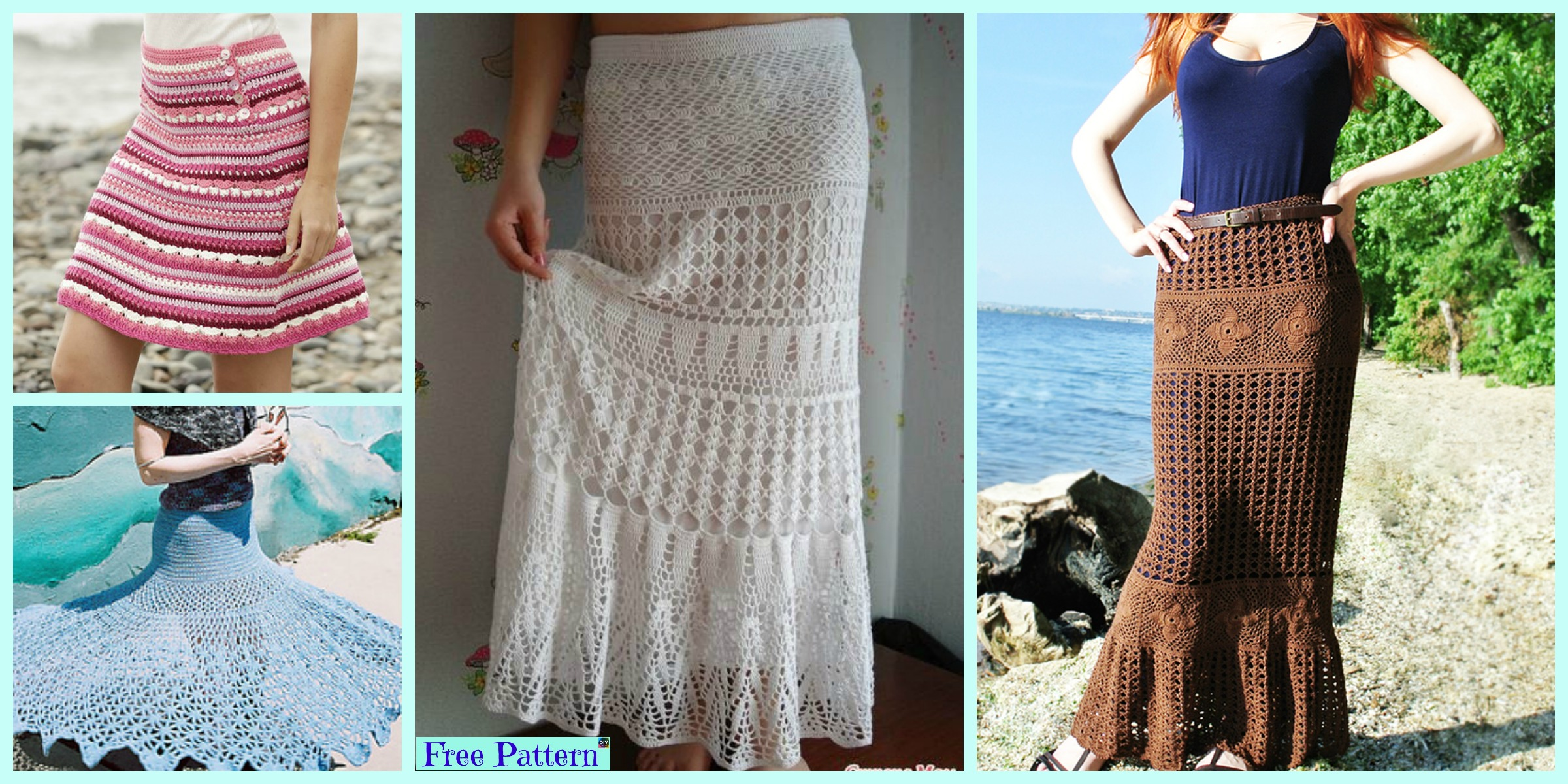 8 Beautiful Crochet Summer Skirt Free Patterns - DIY 4 EVER