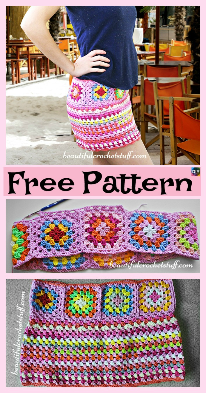 diy4ever-8 Beautiful Crochet Summer Skirt Free Patterns