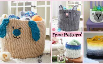 8 Most Adorable Crochet Basket Free Patterns