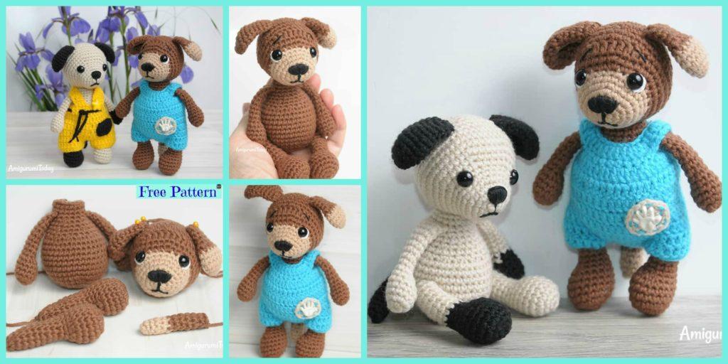 Adorable Crochet Amigurumi Dog Free Pattern Diy 4 Ever