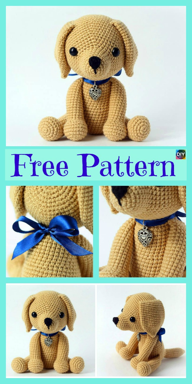 diy4ever- Adorable Crochet Amigurumi Dog - Free Pattern