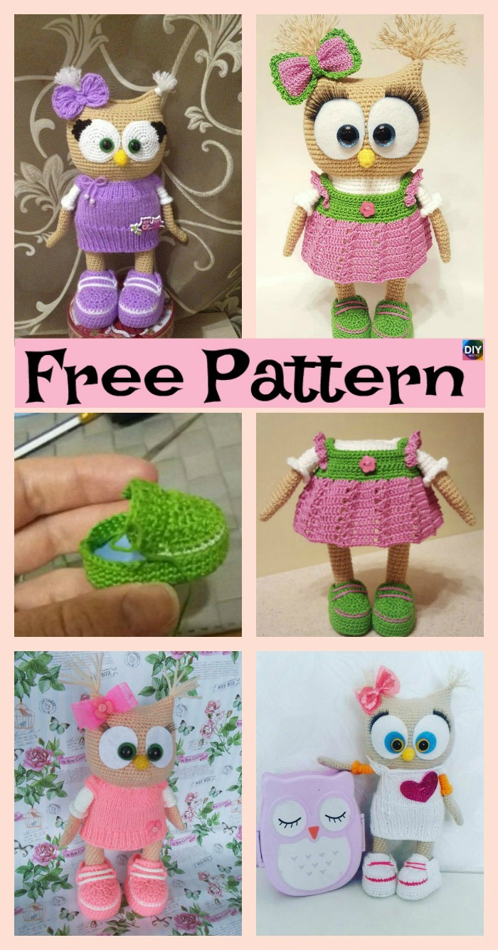 diy4ever- Adorable Crochet Dessed Owl - Free Pattern