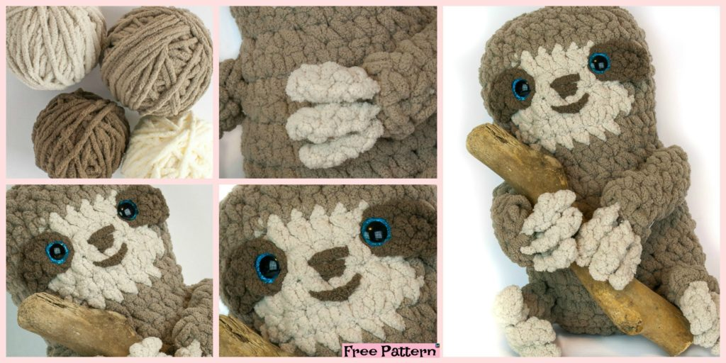 Adorable Crochet Spike Sloth - Free Pattern - DIY 4 EVER d498f9135eb